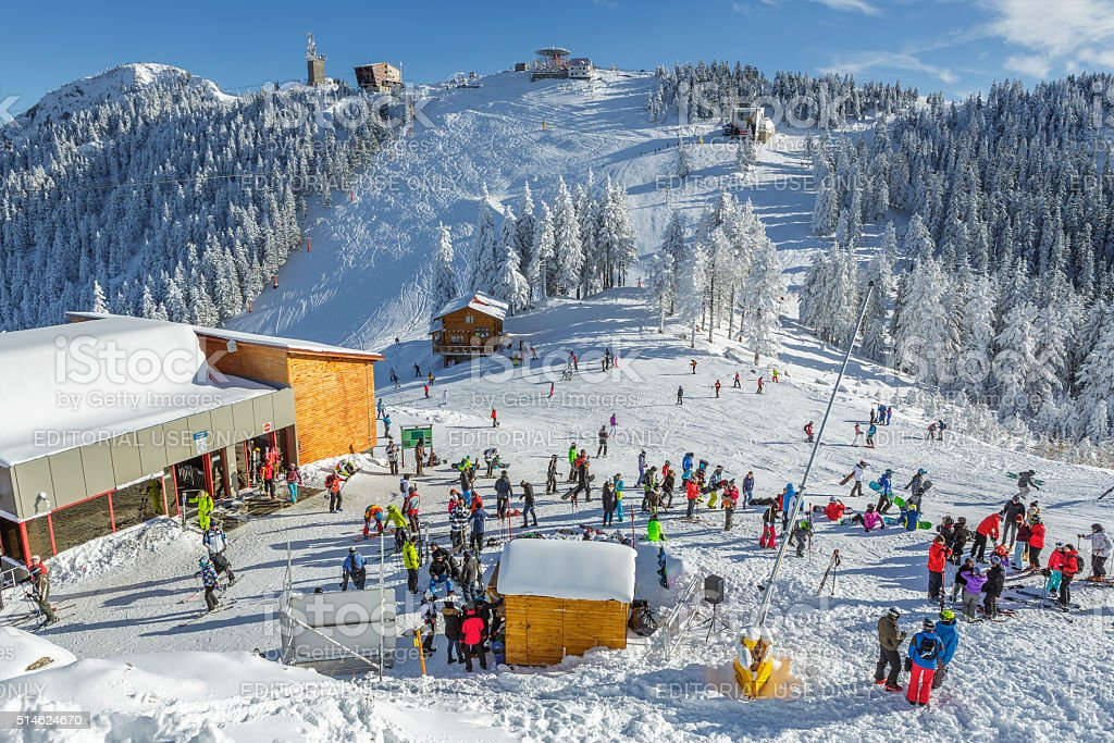 Poiana Brasov winter resort stock photo