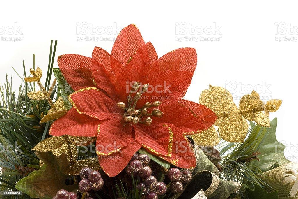 Poinsettia Ornament royalty-free stock photo