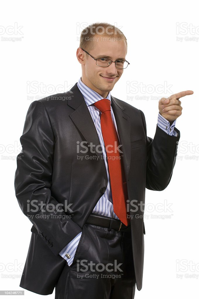 point a finger something stock photo