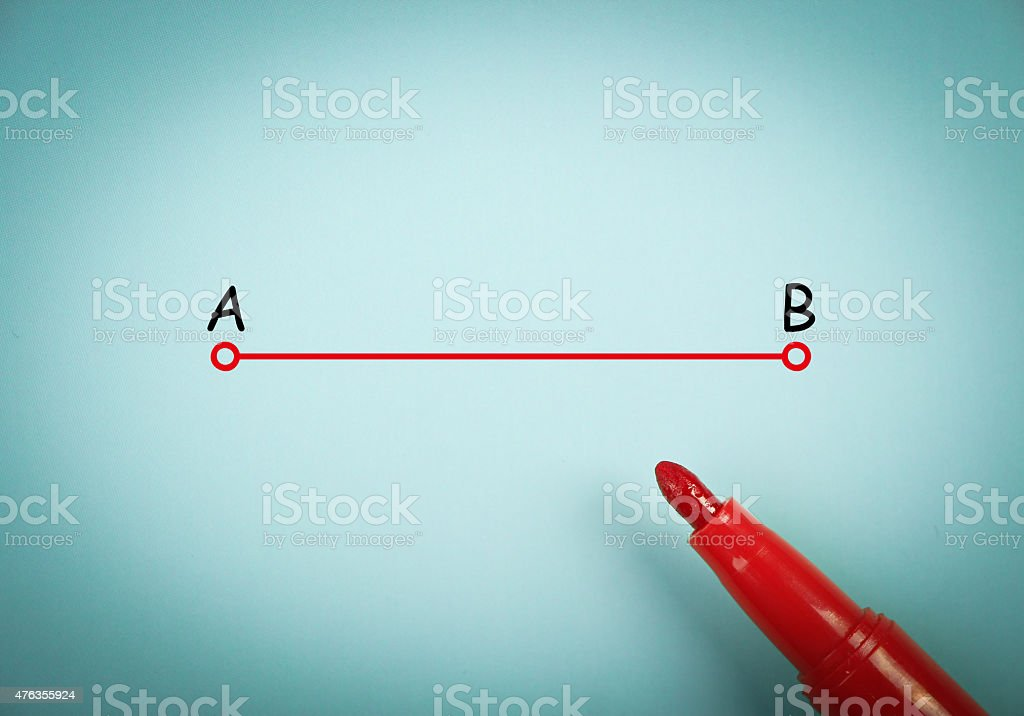 Point a to point b stock photo