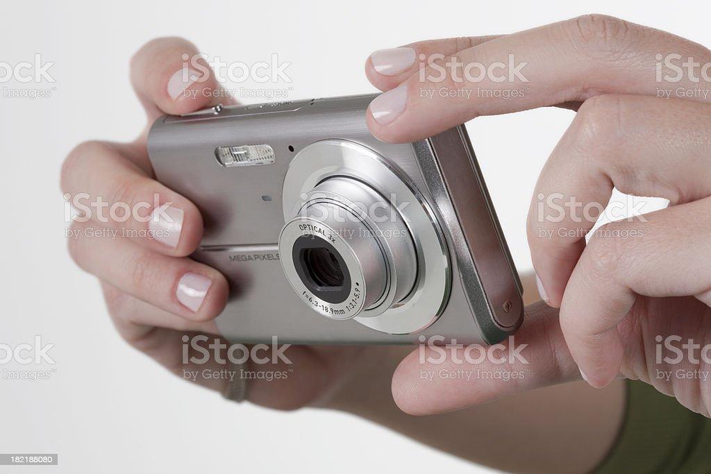 Point and shot digital camera royalty-free stock photo