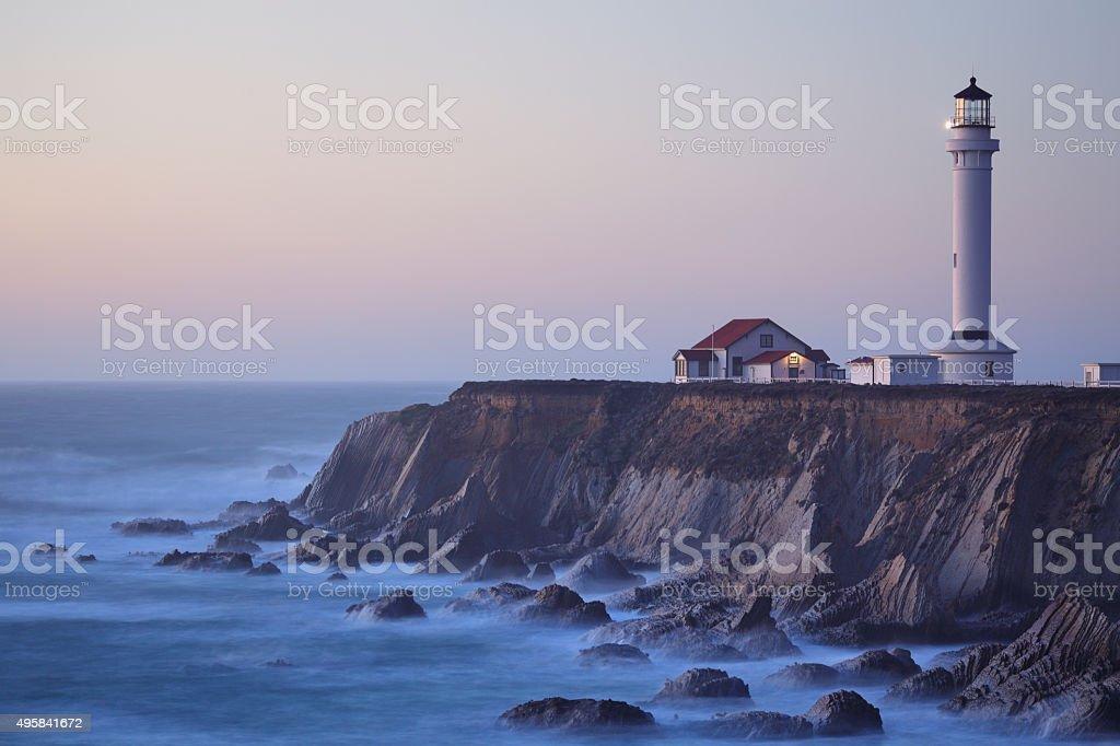 Point Arena Lighthouse - California stock photo