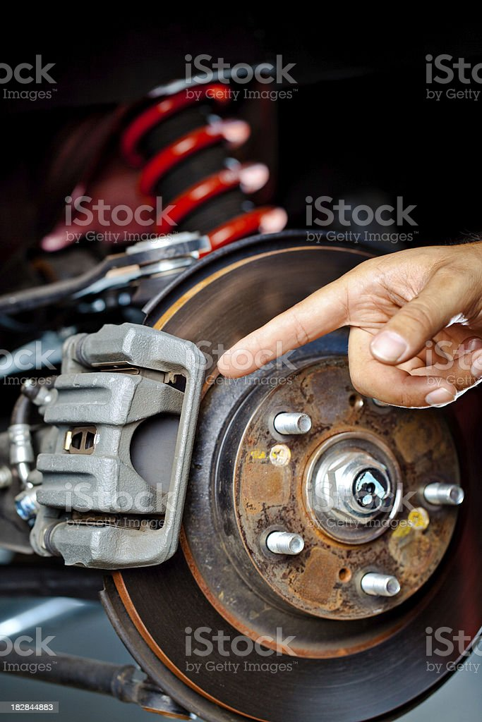 point at brake bracket royalty-free stock photo