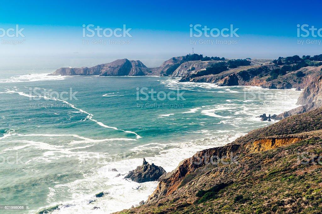 Point Bonita landscape, Marin County, California, USA stock photo