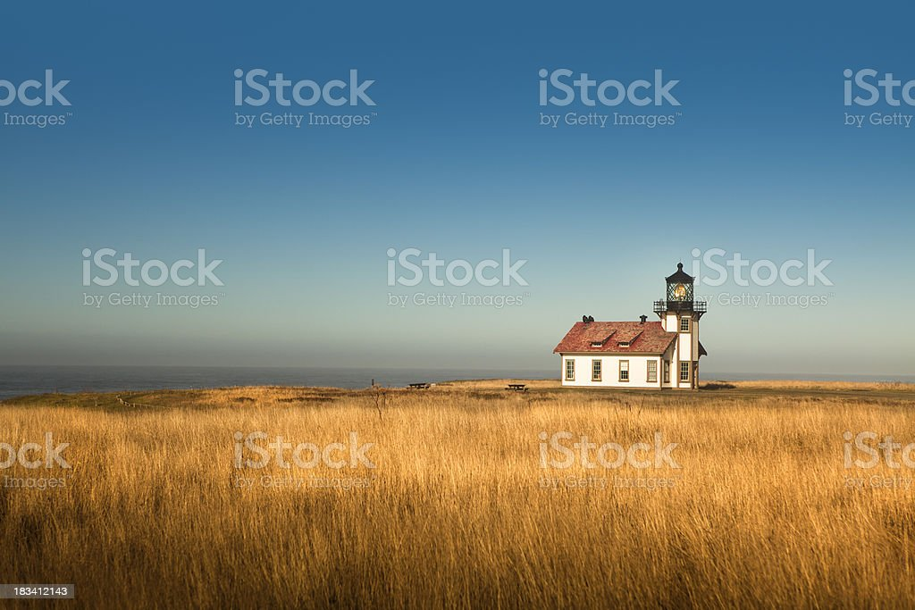 Point Cabrillo Lighthouse California stock photo