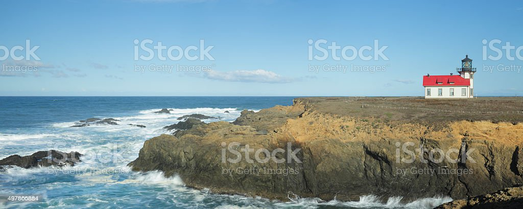 Point Cabrillo Lighthouse - California stock photo