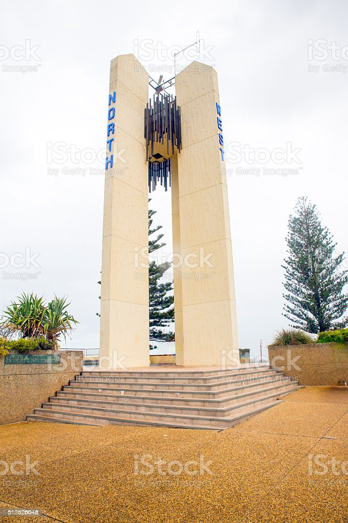 Point Danger Lighthouse, New South Wales, Queensland border stock photo