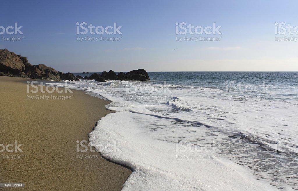Punto Dume Beach-California foto de stock libre de derechos