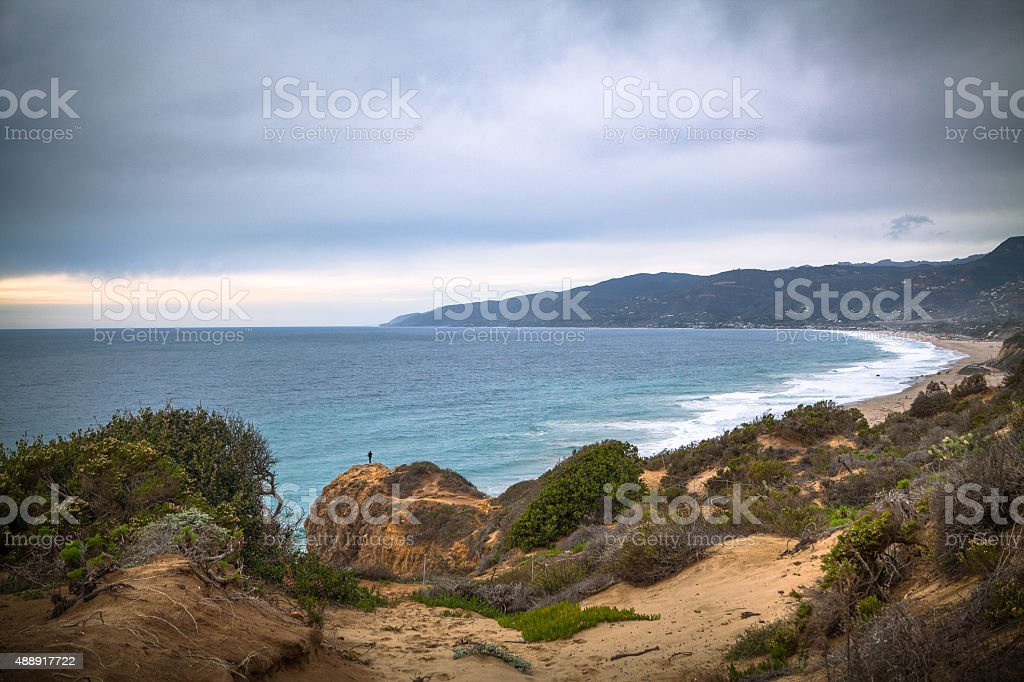 Point Dume in Malibu After Passing Rainfall royalty-free stock photo
