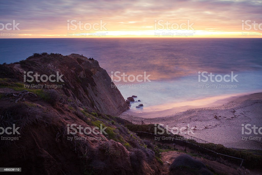 Point Dume State Beach At Sunset in Malibu, CA royalty-free stock photo