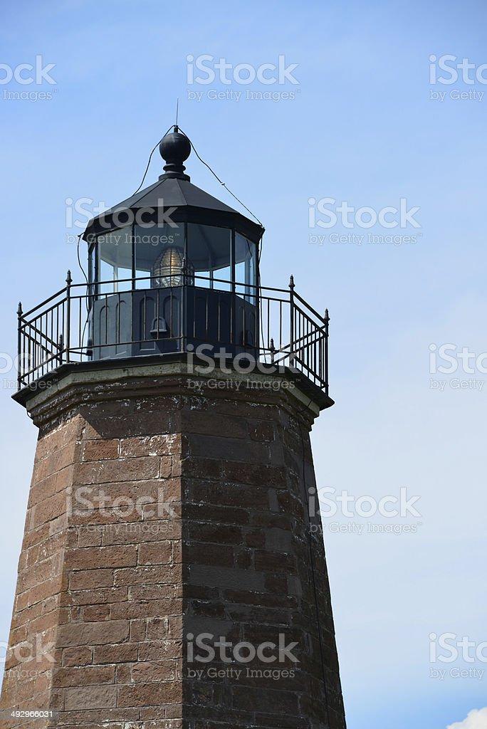 Point Judith Lighthouse, Narragansett, RI, USA stock photo