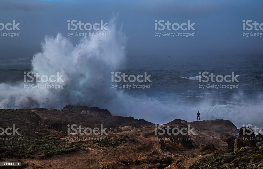 Point Lobos Surf stock photo