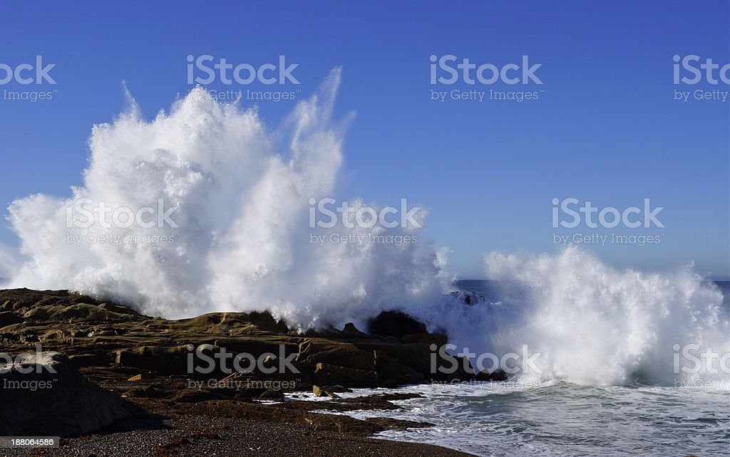 Point Lobos Waves stock photo