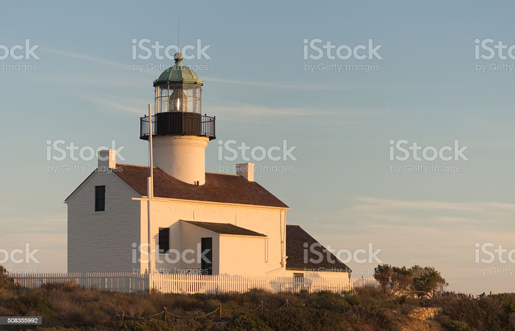 Point Loma Lighthouse Cabrillo National Monument Pacific Coast stock photo