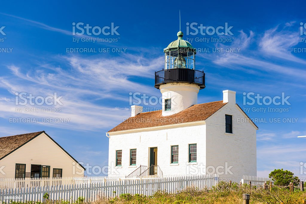 Point Loma Lighthouse stock photo
