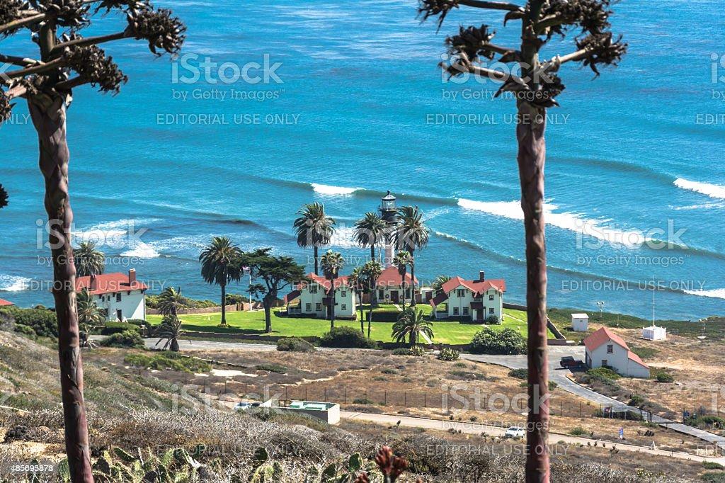 Point Loma Lighthouse, San Diego stock photo