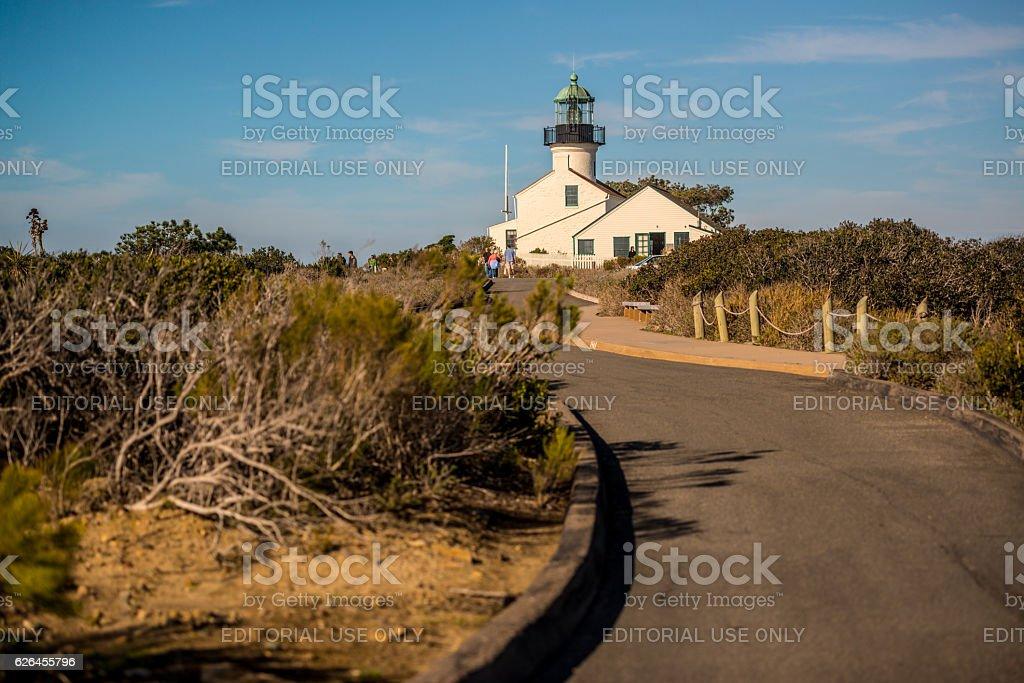 Point Loma Lighthouse, San Diego, USA stock photo