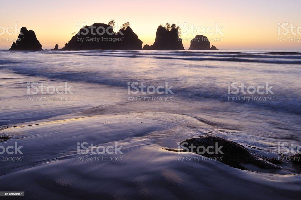 Point of Arches, Shi-shi Beach, Washington stock photo