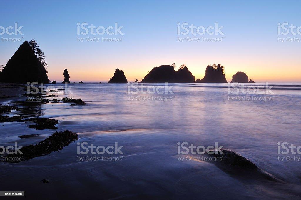 Point of Arches, Shishi Beach, Washington stock photo