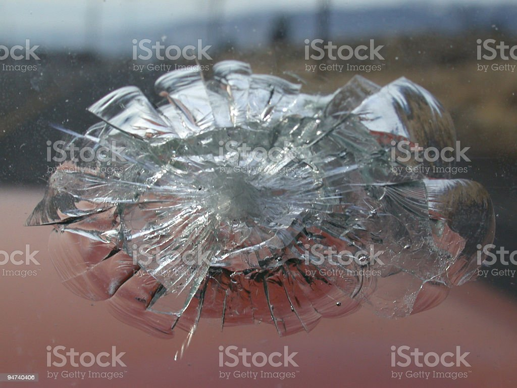 Point of Impact royalty-free stock photo