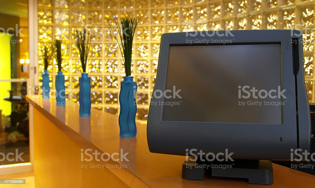 Point of sale terminal royalty-free stock photo