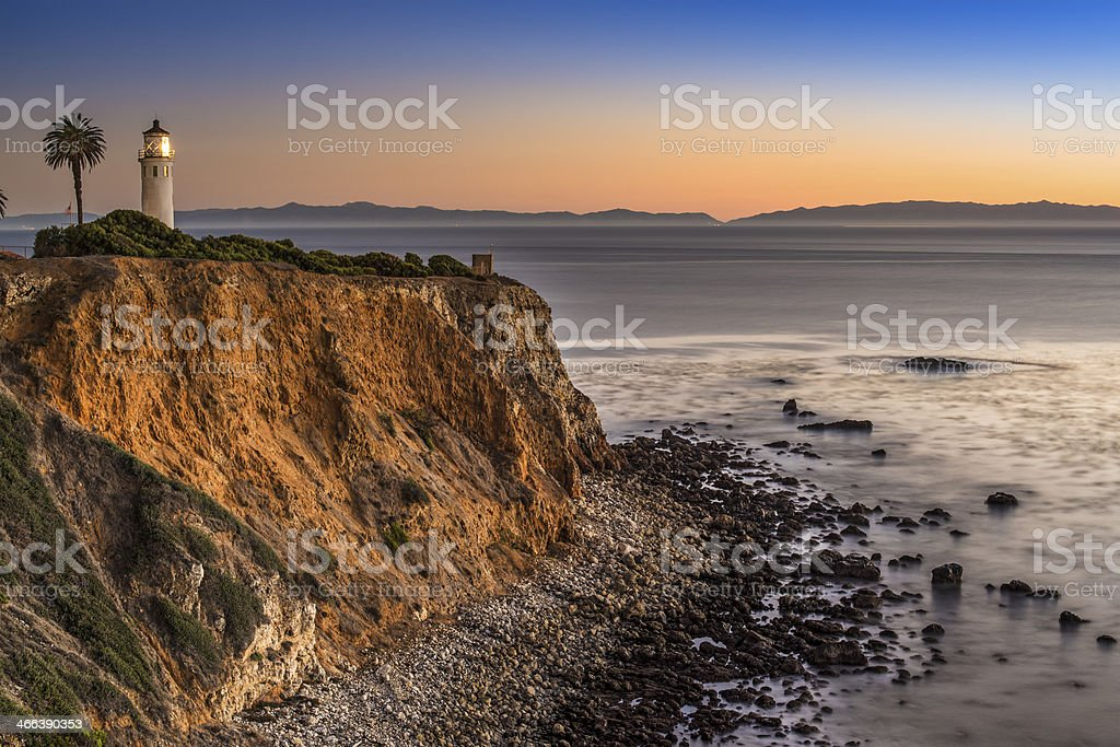 Point on the Pacific Ocean stock photo