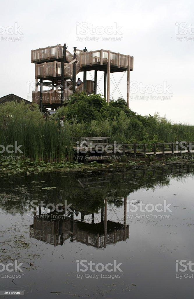 Point Pelee Marsh Boardwalk Tower stock photo