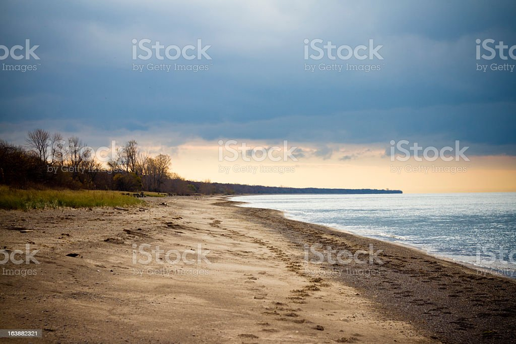 Point Pelee National Park On A Winter Afternoon royalty-free stock photo