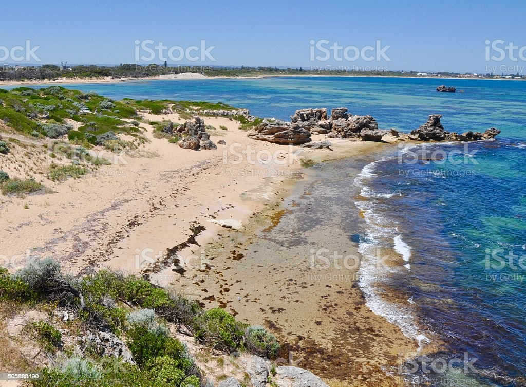 Point Peron Beach: Indian Ocean Blue stock photo