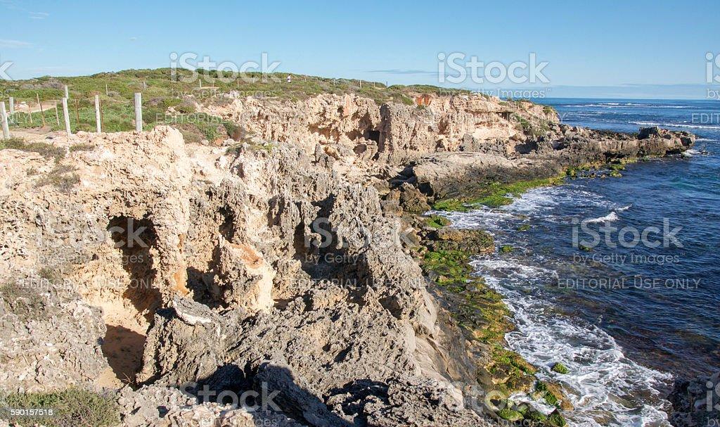 Point Peron: Coastal Limestone Bluff stock photo