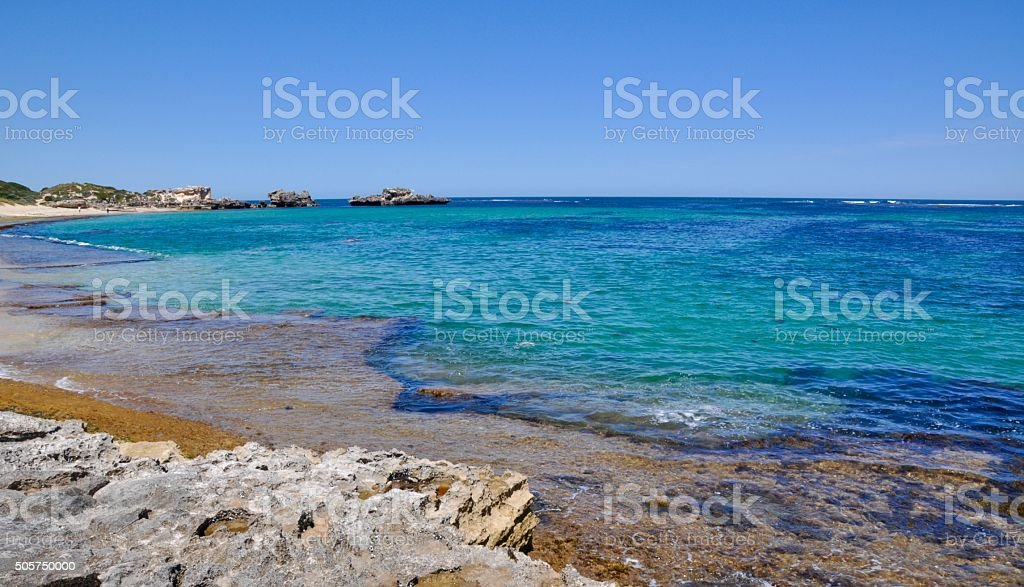 Point Peron: Indian Ocean Blue stock photo
