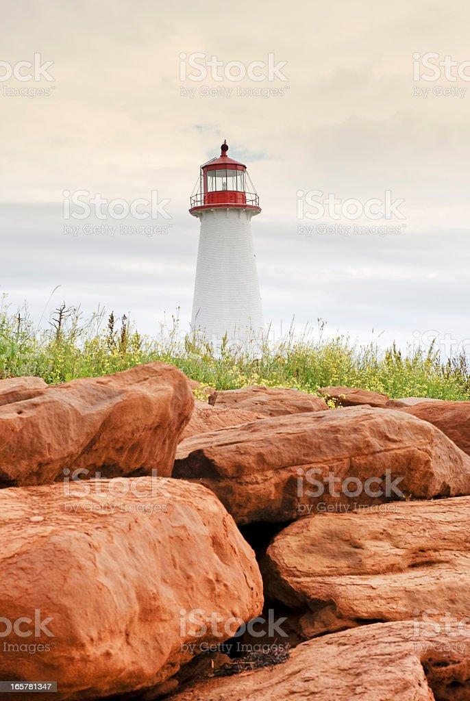 Point Prim lighthouse, PEI, Canada stock photo
