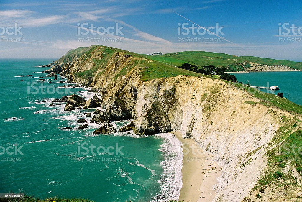 Point Reyes California National Park near the Pacific Ocean stock photo
