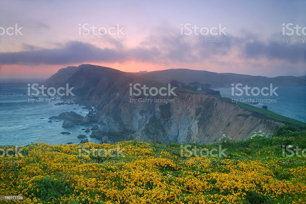 Point Reyes Sunset royalty-free stock photo
