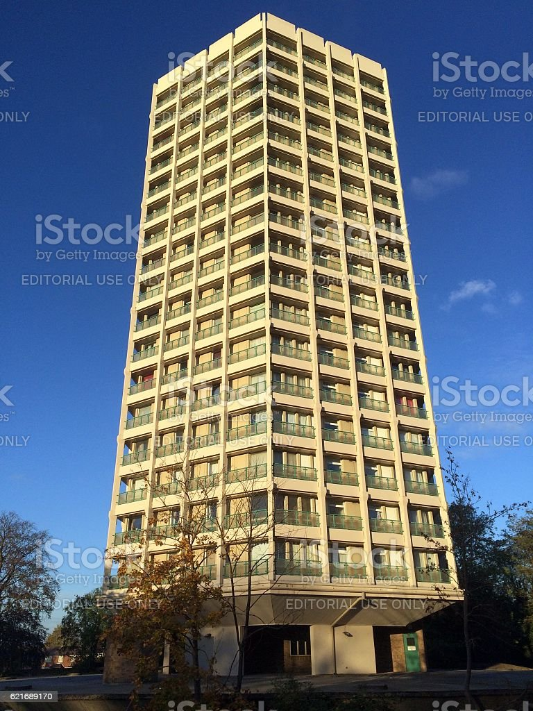 Point Royal Apartments in England stock photo