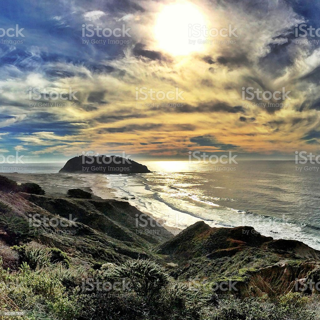 Point Sur afternoon stock photo