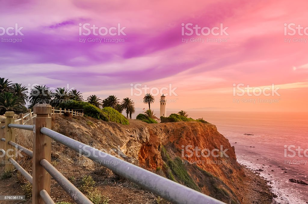 Point Vicente at Dusk stock photo