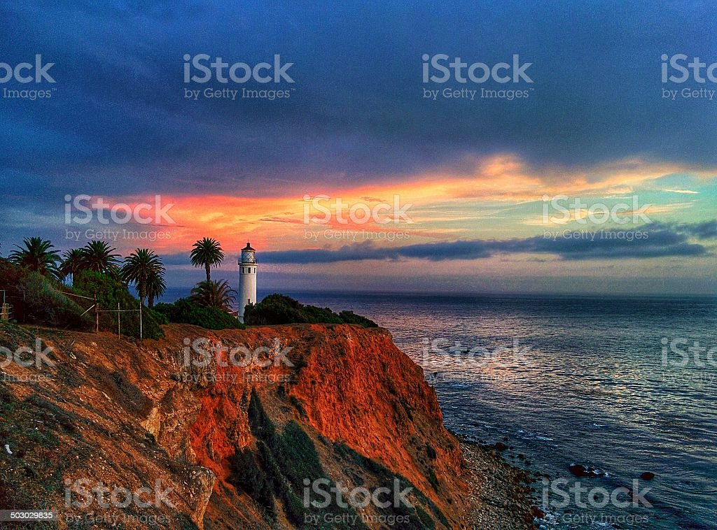 Point Vicente Light stock photo