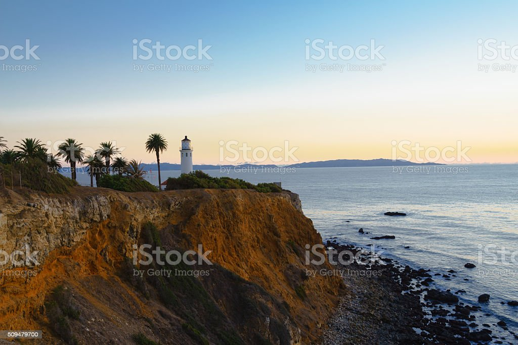 Point Vicente Lighthouse at Palos Verdes stock photo