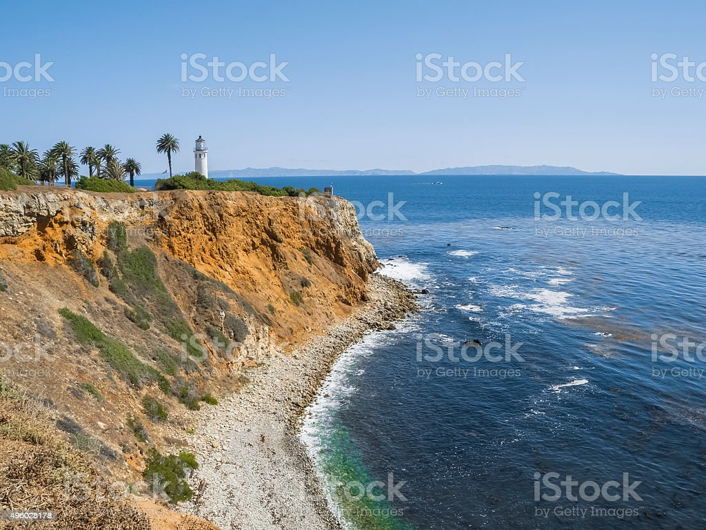 Point Vicente Lighthouse On a Clear Day, Palos Verdes California stock photo