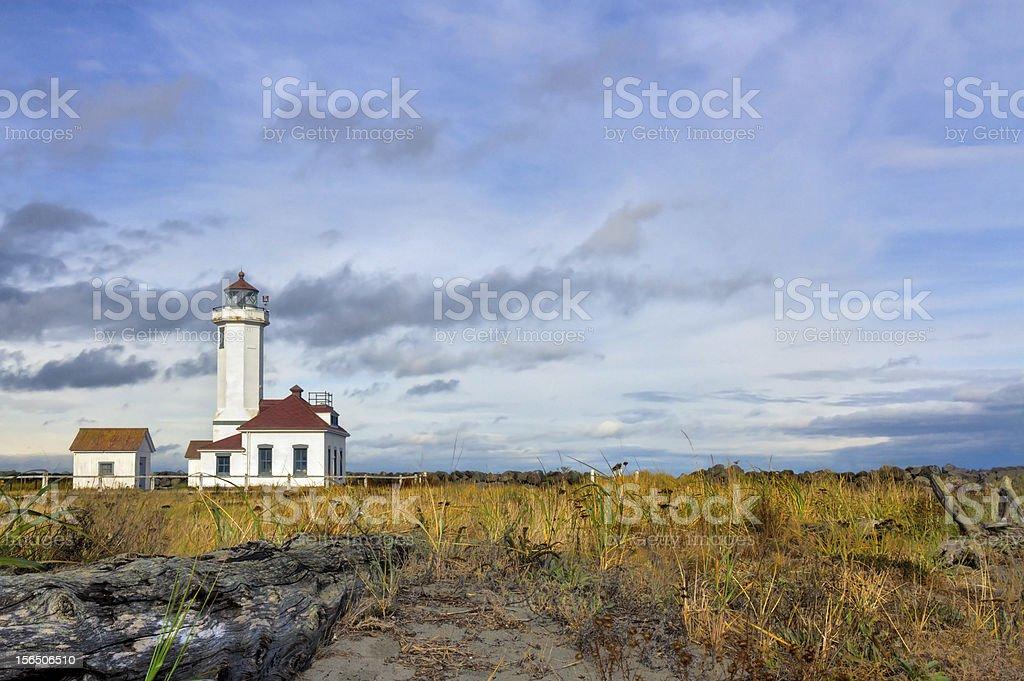 Point Wildon lighthouse royalty-free stock photo