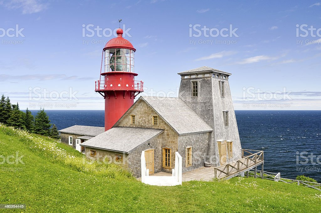 Pointe a la Renommee lighthouse, Quebec (Canada) stock photo