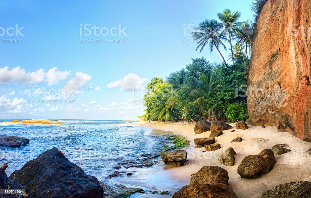 Pointe Baptiste beach, Calibishie, Dominica stock photo