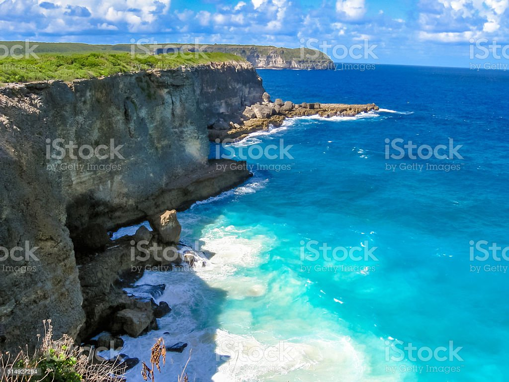 Pointe de la Grande-Vigie Guadeloupe stock photo