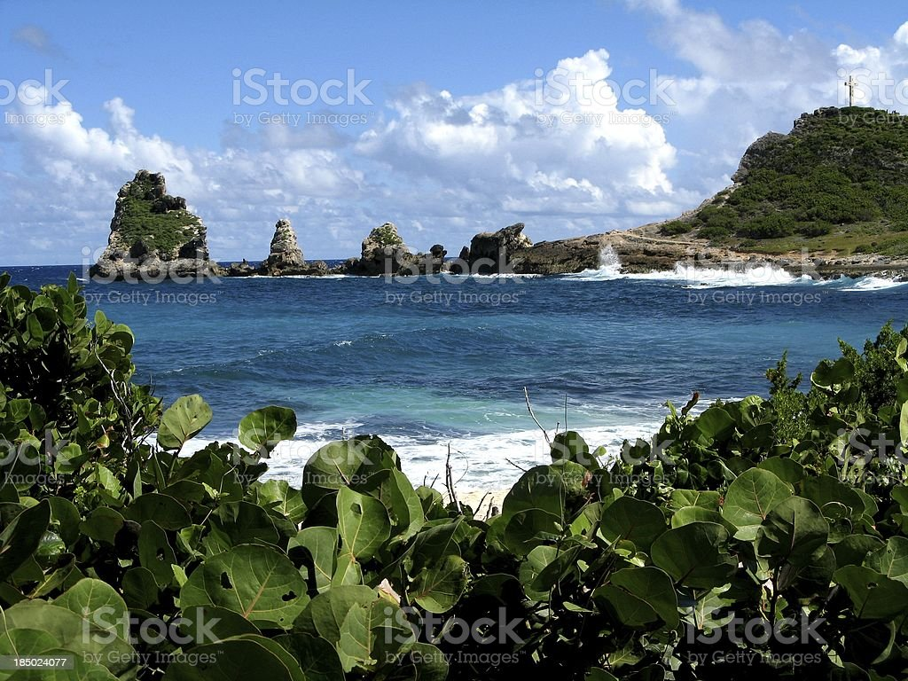 Pointe des ch?teaux, Guadeloupe stock photo
