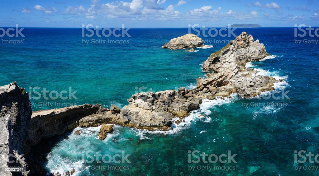 Pointe des Ch?teaux in Guadeloupe stock photo