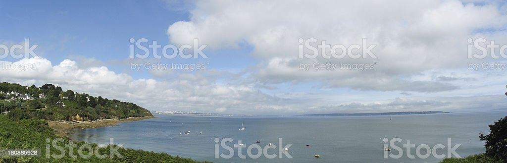Pointe des Espagnols and sea coast in Brittany royalty-free stock photo
