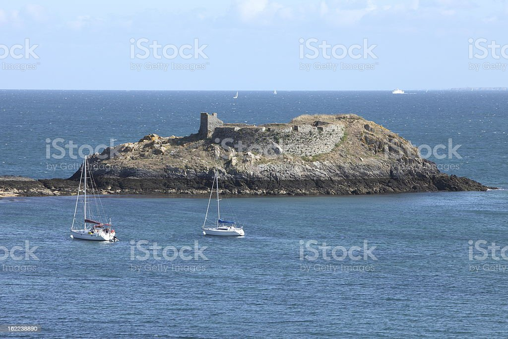 Pointe du Gros Rocher in Belle-Ile-en-Mer, France royalty-free stock photo
