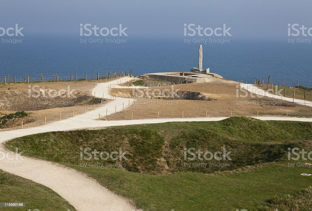 Pointe du Hoc _ Memorial stock photo
