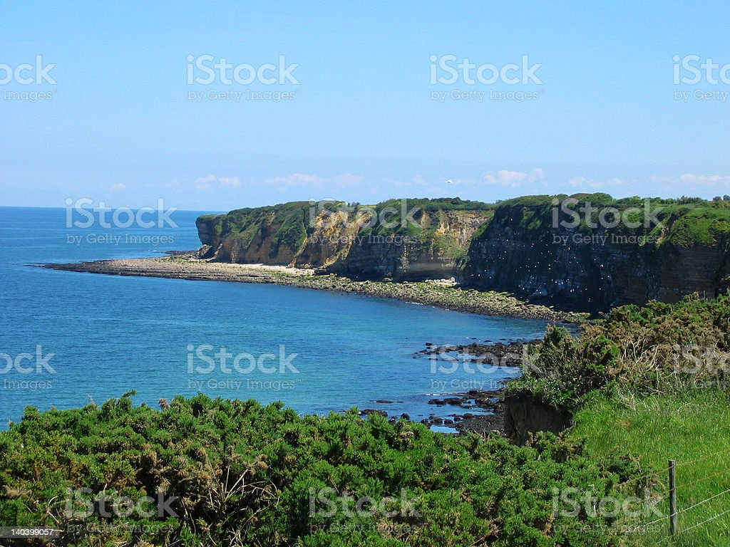 Pointe du Hoc Cliffs royalty-free stock photo